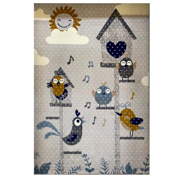 فرش کودک پرنده و گنجیشک