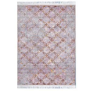 فرش مراکشی خاکستری یاسی کد 100476