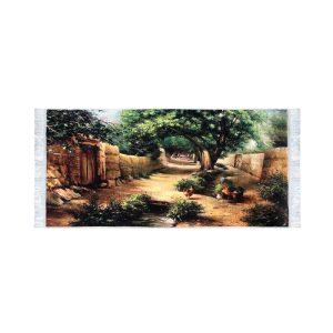 تابلو فرش کلاریس طرح کوچه باغ