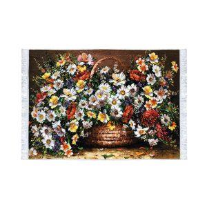 تابلو فرش کلاریس طرح گل بابونه