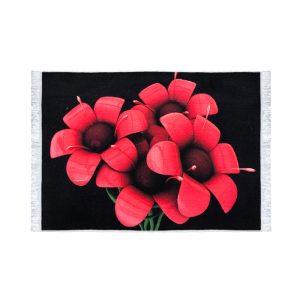 تابلو فرش کلاریس طرح چهار گل