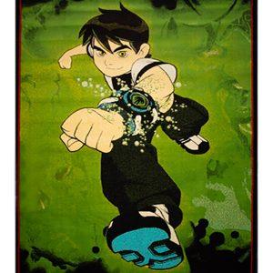 فرش ماشینی کودک طرح پسر جنگجو