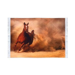 تابلو فرش کلاریس طرح اسب وحشی
