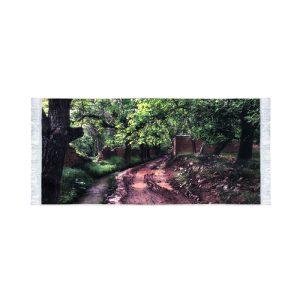 تابلو فرش کلاریس طرح جاده جنگلی