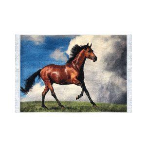 تابلو فرش کلاریس طرح اسب ترکمن