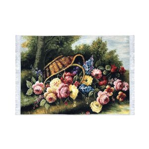 تابلو فرش کلاریس طرح گل هفت رنگ