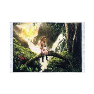 تابلو فرش کلاریس طرح دخترک روی درخت