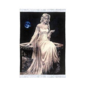 تابلو فرش فرشته و ماه