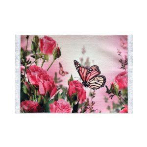 تابلو فرش کلاریس طرح گل و پروانه