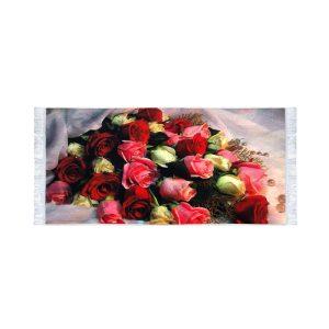تابلو فرش کلاریس طرح گلهای هفت رنگ