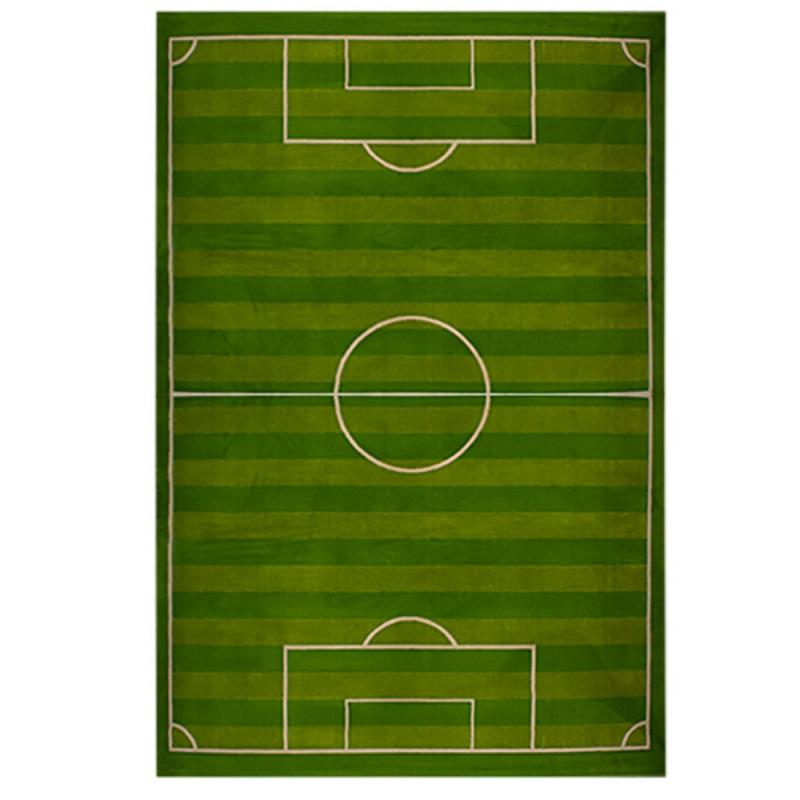 فرش اتاق کودک طرح زمین فوتبال