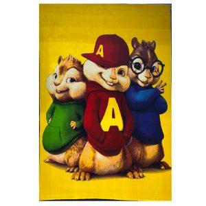 فرش ماشینی کودک طرح آلوین و سنجاب ها 2