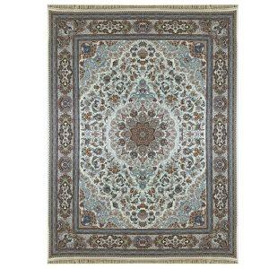 فرش ماشینی 1000 شانه طرح استانبول کرم گل برجسته