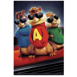 فرش اتاق کودک طرح آلوین و سنجاب ها