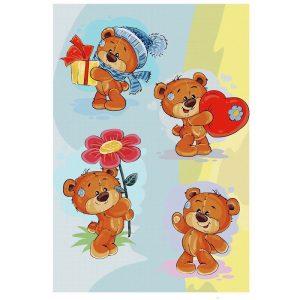 فرش اتاق کودک طرح خرس تدی