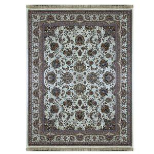 فرش ماشینی 1000 شانه طرح یاشار کرم گل برجسته