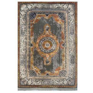فرش فرانسوی طوسی آجری کدS823