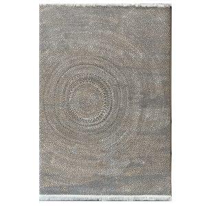 فرش مدرن زمینه طوسی کرم