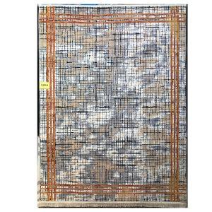 فرش مدرن خاکستری آجری کد S815