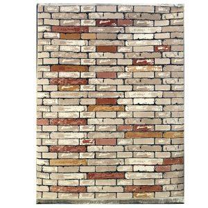 فرش فانتزی دیوار زمینه آجری کرم S831