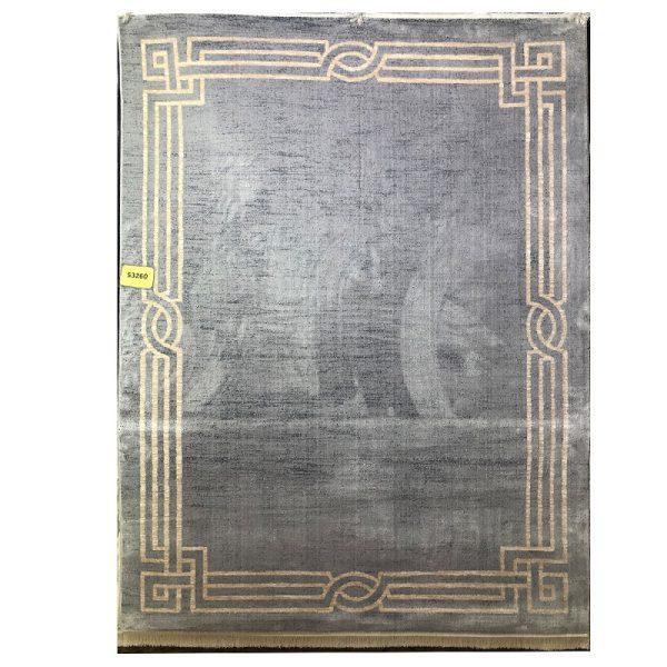 فرش ورساچه زمینه نقره ای کد S834