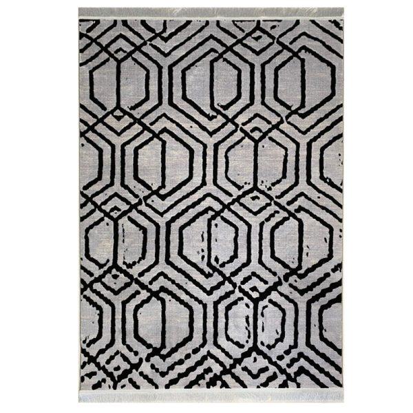 فرش مراکشی زمینه طوسی کد S837