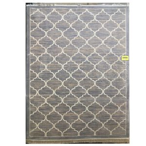 فرش مراکشی خاکستری کرم کد 100487