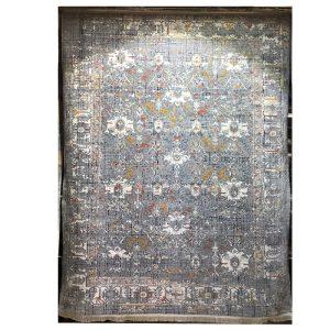 فرش کهنه نما زمینه خاکستری کد S809