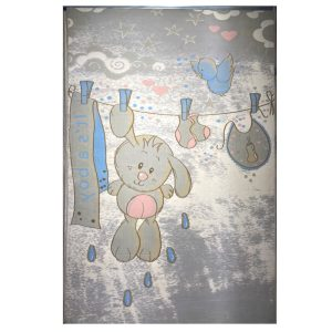 فرش کودک طرح خرگوش با بندرخت کد SB917