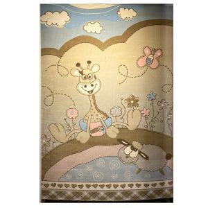 فرش کودک طرح زرافه و بره کد SB911