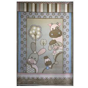 فرش کودک طرح گاو خرگوش بره کد SB918