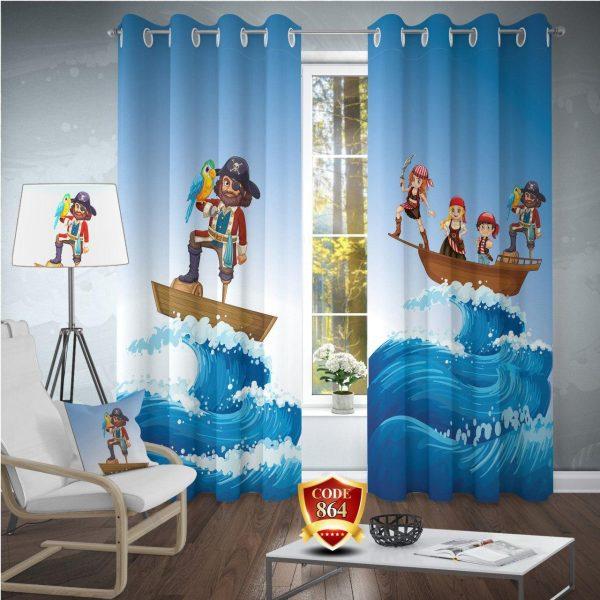 ست پرده فرش اتاق کودک دزد دریاییB119