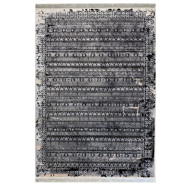 فرش مراکشی زمینه ذغالی کد S823