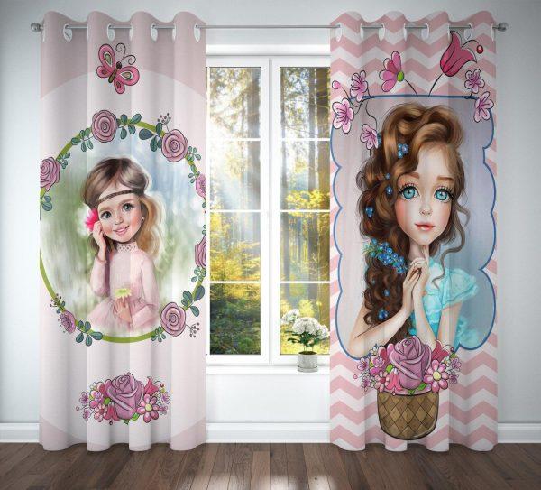 پرده اتاق کودک دخترانه کد B160
