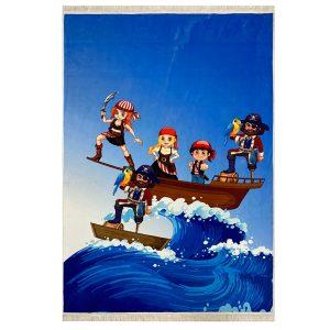 فرش کودک اختصاصی طرح دزد دریایی