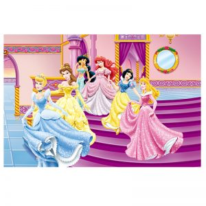 فرش کودک سیندرلا و دختران در قصر