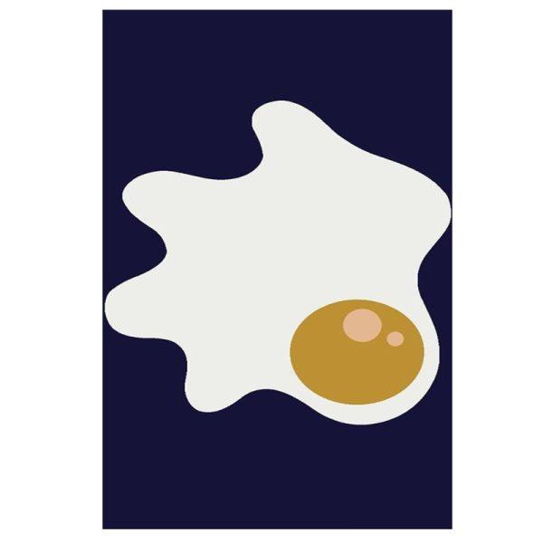 فرش کودک طرح تخم مرغ نیمرو