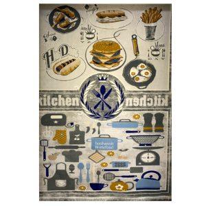 فرش کودک طرح وسایل آشپزخانه کدSB947