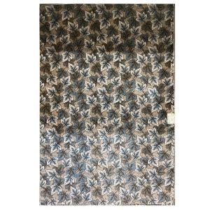 فرش فانتزی طرح برگ آبی زمینه نسکافه ایی کد 5029