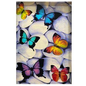 فرش فانتزی طرح سنگ و پروانه کد 1153
