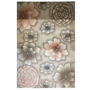 فرش فانتزی طرح گل زمینه کرم کد 5026