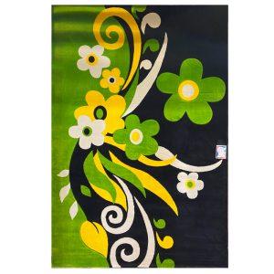 فرش فانتزی طرح گل سبز کد۱۱۴۲