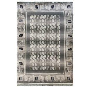 فرش فندی زمینه طوسی کرم کد S845