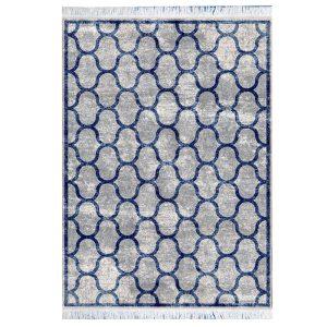 فرش مراکشی خاکستری آبی کد 100474فرش مراکشی خاکستری آبی