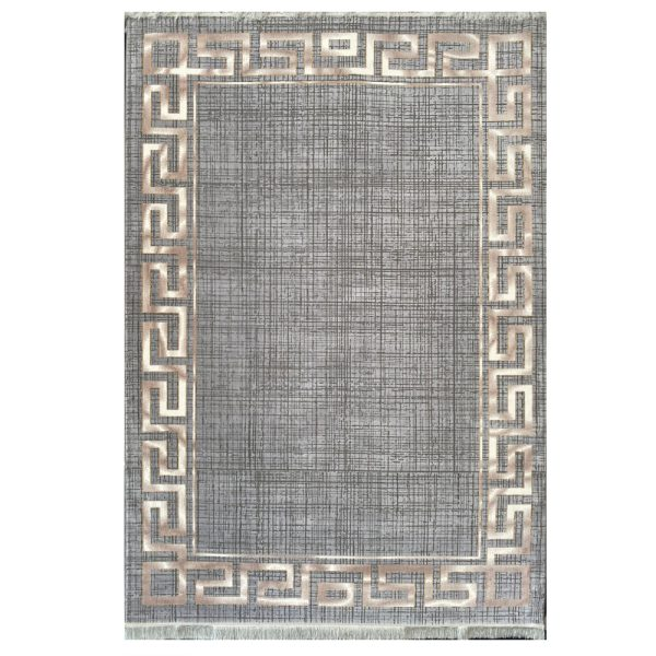 فرش ورساچه زمینه فیلی کرم کد S840