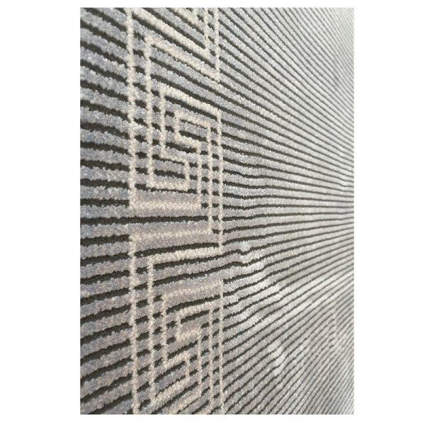 فرش ورساچه نقره ای کرم کد S841