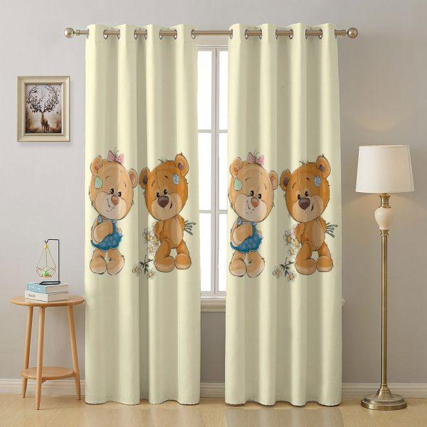 فرش کودک اختصاصی خرس عروسکی