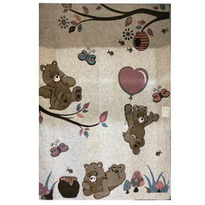 فرش کودک خرس و کندو عسل