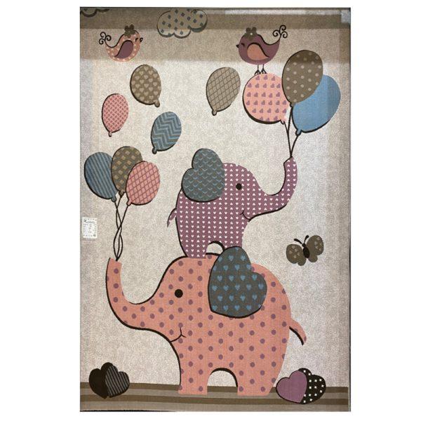 فرش کودک فیل و بادکنک