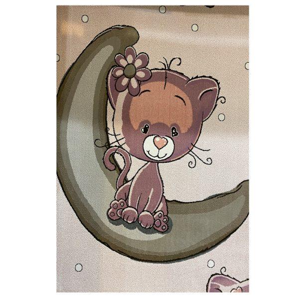 فرش کودک ماه و ستاره و گربه